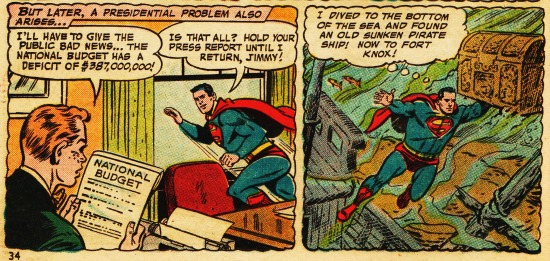 vintage comic superman