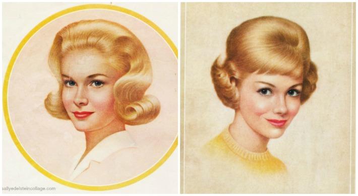 vintage illustration Breck Girls