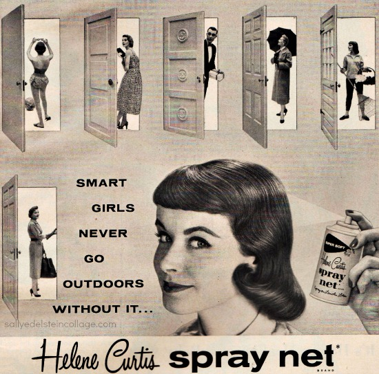 1950's Vintage Ad for Helene Curtis Hair Spray