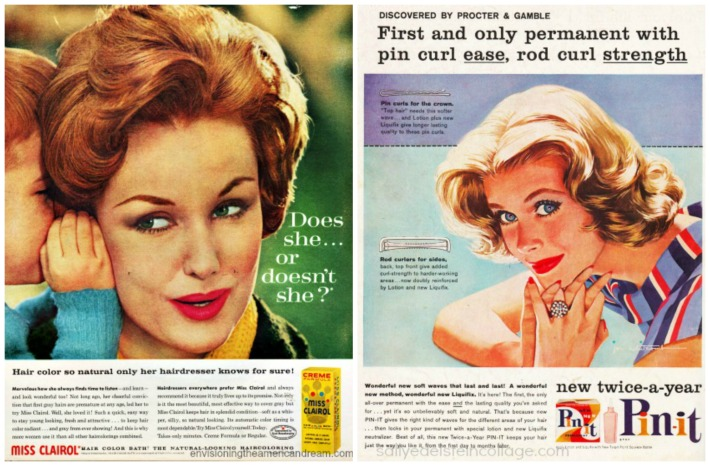 vintage hair ads