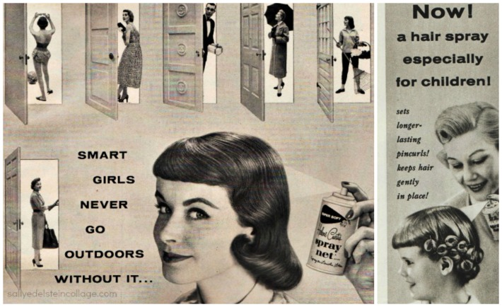 Hair Spray Helene Curtis ads 1950s