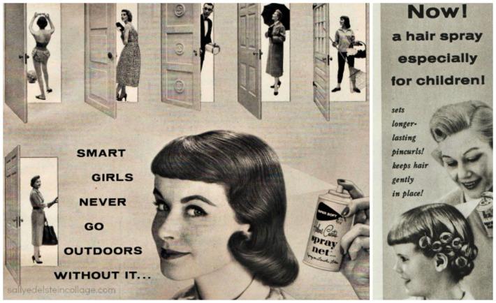 Hair Spray Helene Curtis ads 1950s