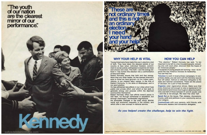 Robert Kennedy Campaign Youth Drive pamphlet 1968