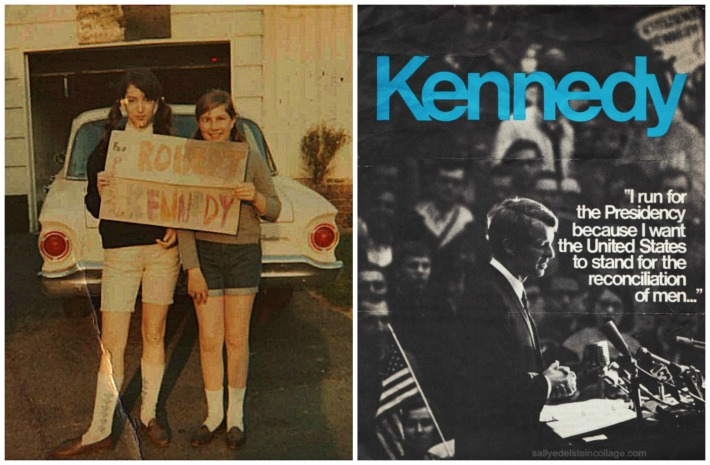 Kennedy For President 1968 brochure suburban teens