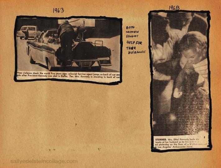 Newspaper photos of 2 Kennedy Assasinations