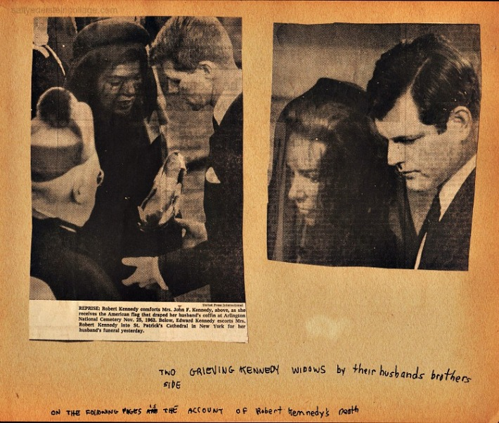 Jackie Kennedy Ethel Kennedy at funerals of husbands