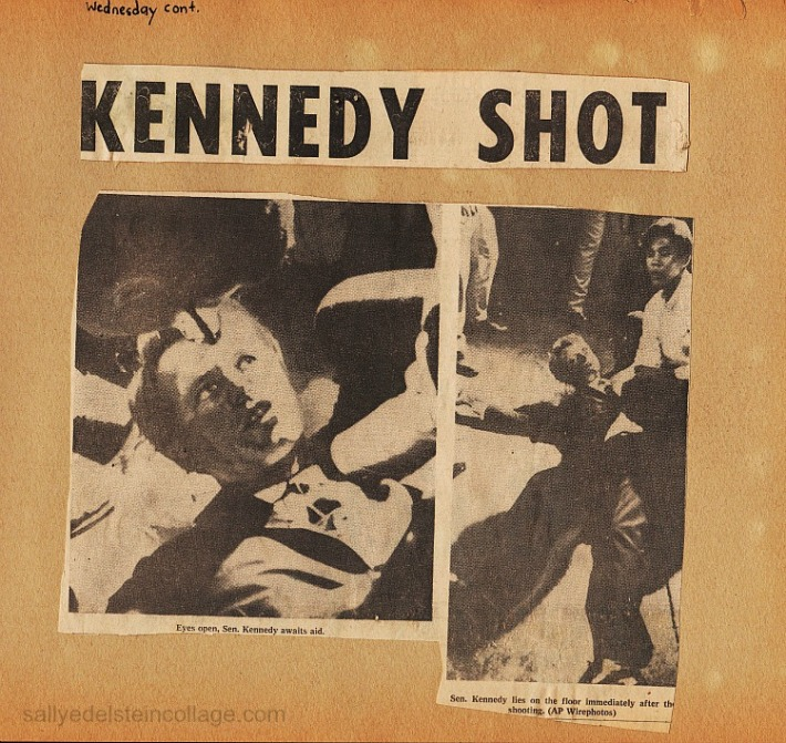 RFK Assasination 1968 Newspaper Photos