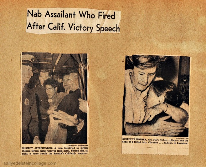 Newspaper photos of RFKs assasin Sirhan Sirhan
