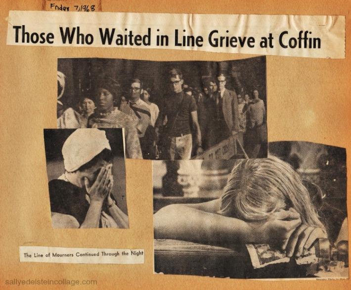 Newspaper reporting RFK Funeral 1968