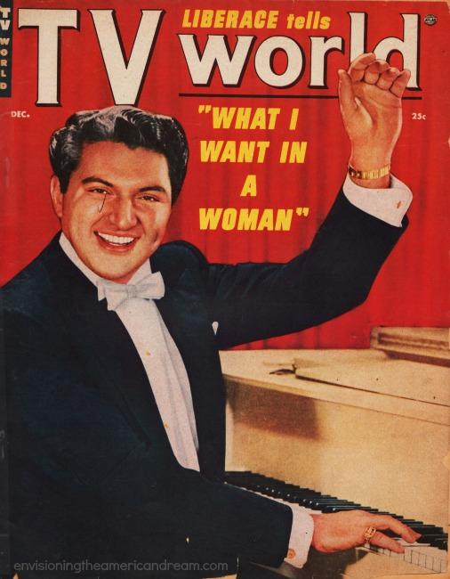 Liberace 1954 magazine cover