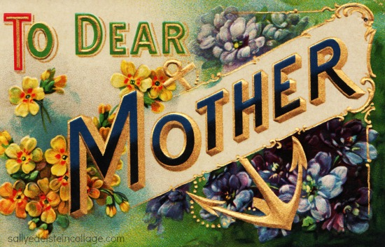 Vintage postcard Mother Card