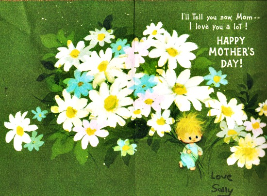 Vintage Mothers Day Card Sally Edelstein