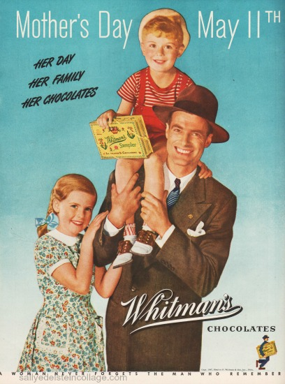vintage ad mothers day whitmans 47 family photo