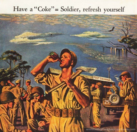 WWII Coke Ad illustration Soldier