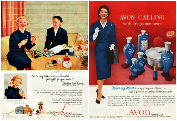 Beauty Ads Avon Lady's 1950s  Barbara Bel Geddes