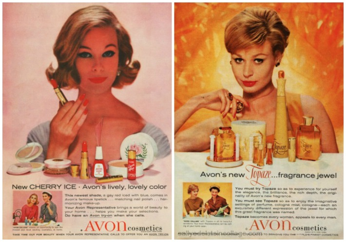 Beauty Avon ads 1959