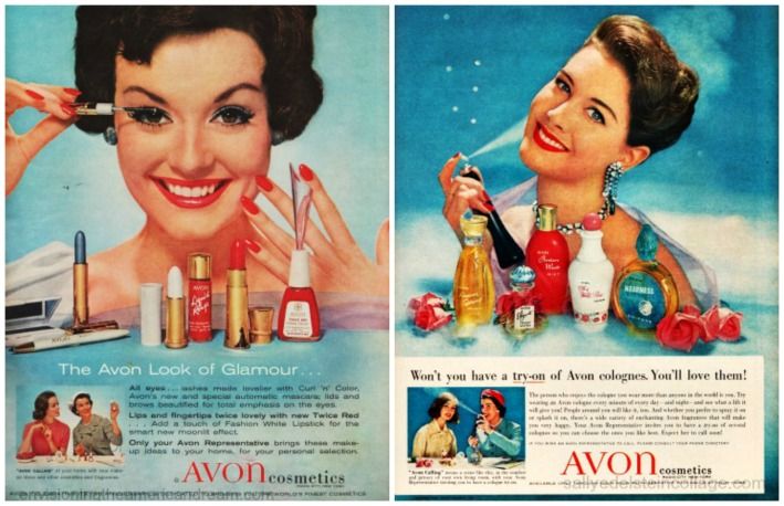 Beauty Avon  Ads 1950s