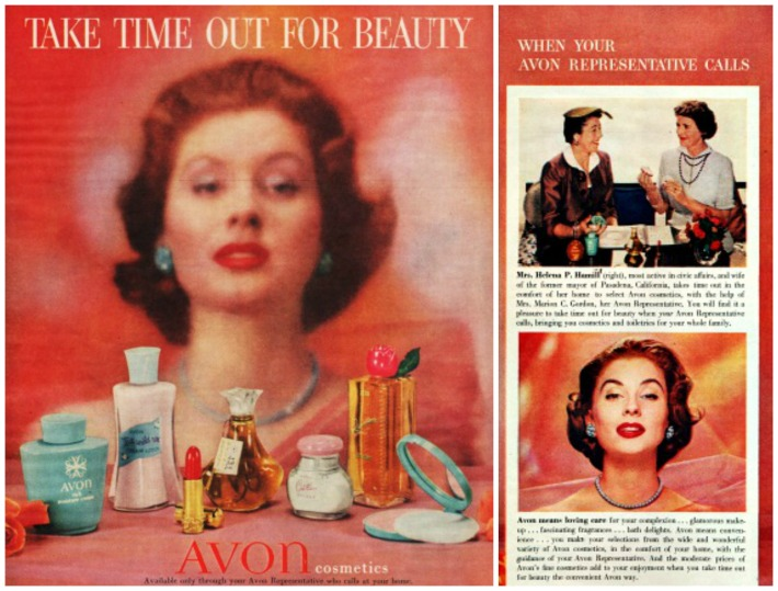 Beauty Avon Ad woman Time Out For Beauty
