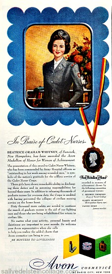 Beauty Avon WWII Ad