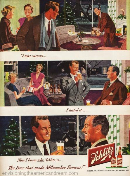 beer shlitz ad I was curious illustration
