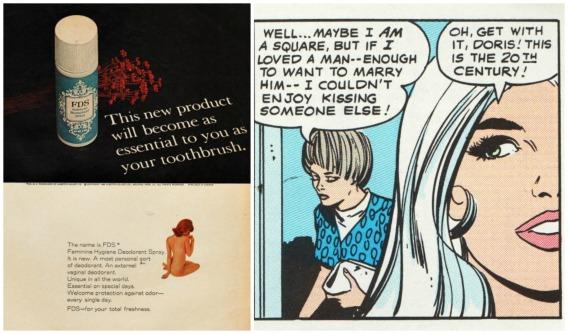 Feminine Hygiene FDS ad romance comics