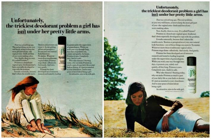 Feminine Hygiene Pristeen Ads