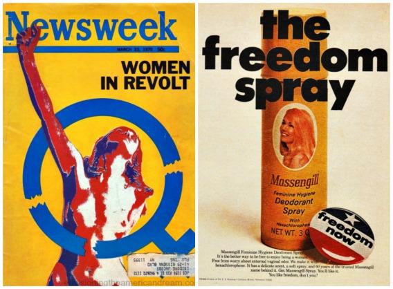 Newsweek Feminism Feminine Hygiene spary ad