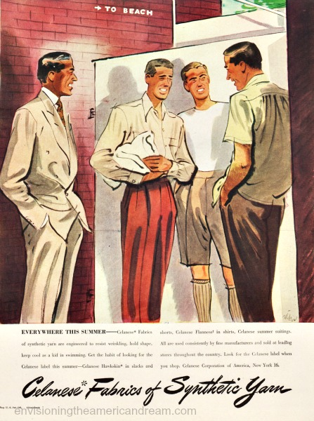 gay illustration fashion ad 1940s