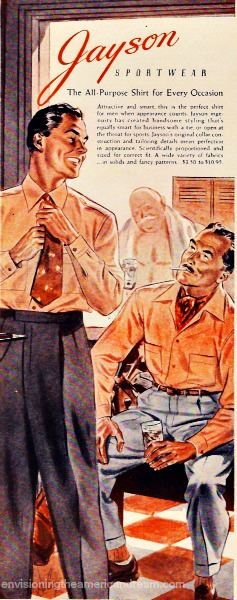 Mens fashion homoerotic llustration 1940s