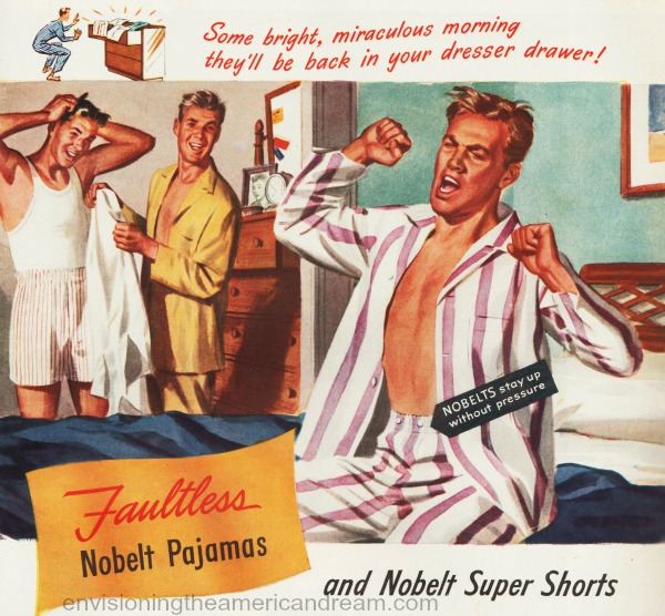 homoerotic vintage illustration ad 1940s