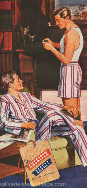 homoerotic illustration 2 men 1940s
