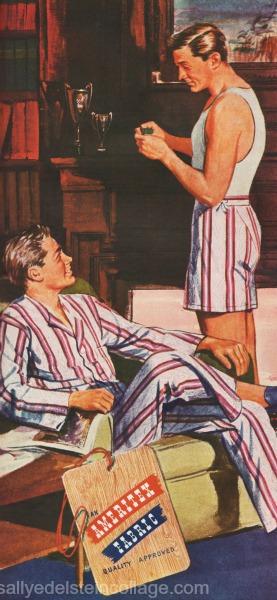 homoerotic illustration 2 men 1940s