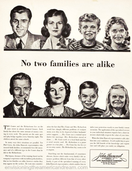 illustration 1950s family advertising
