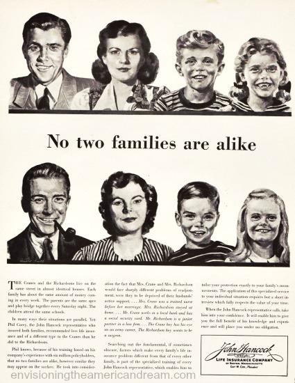 illustration 1950s family advertising