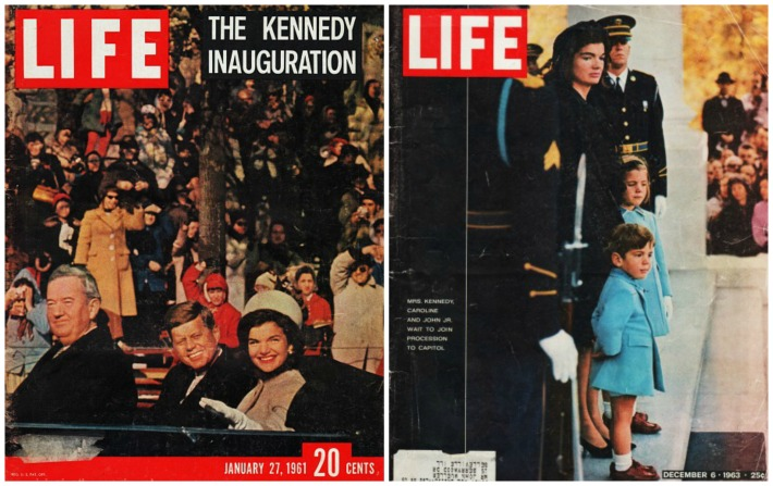 John F Kennedy and Jackie First Lady Vintage Life Magazines