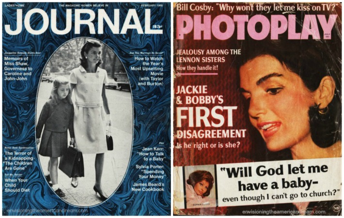Jackie Kennedy  Ladies Home Journal and PhotoplayMagazine covers 1960s