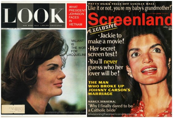 Jackie Kennedy cover  Look and Screenland Magazine