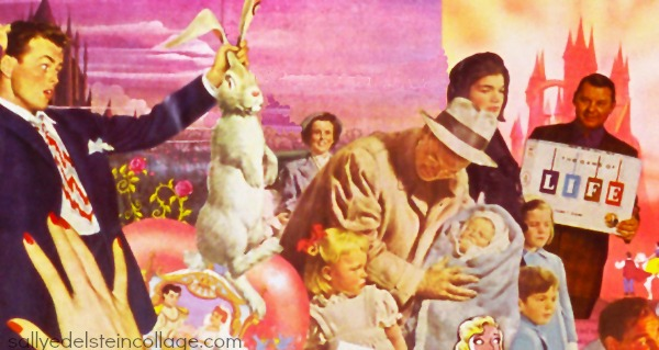 artwork collage appropriated vintage images American Dream