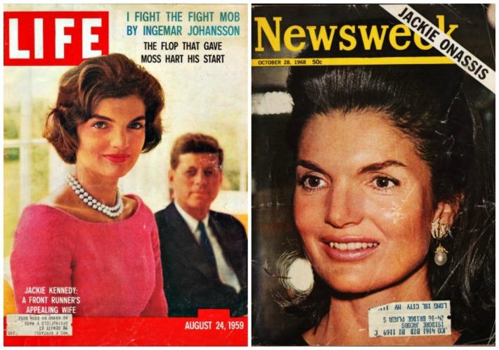 Kennedy Jackie Onassis JFK vintage magazines