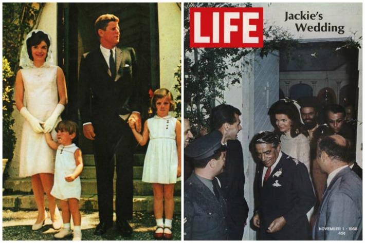 Jackie Kennedy JFK Onassis Wedding