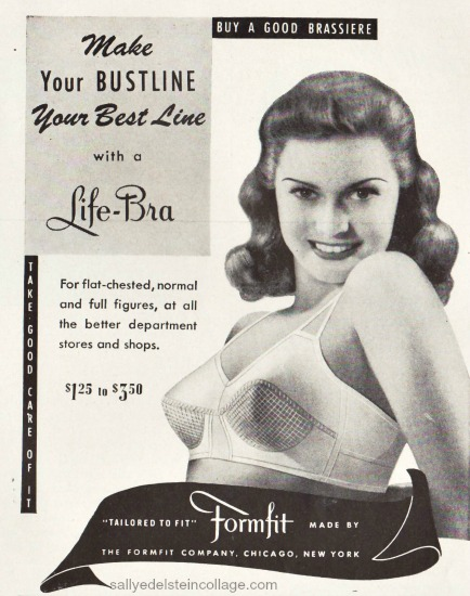 photo woman in bra 1943 ad