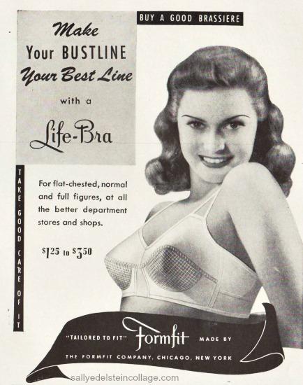 photo woman in bra 1943 ad