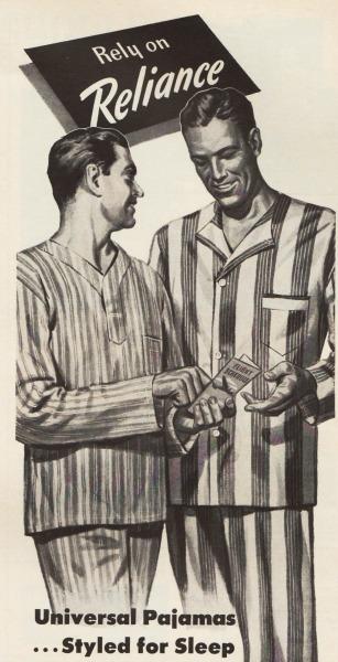 mens fashion illustration pajamas