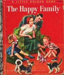 Vintage childrens book illustration 1950s family