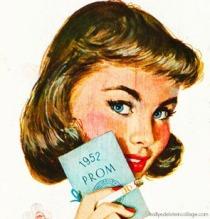 smoking ad girl 1950s