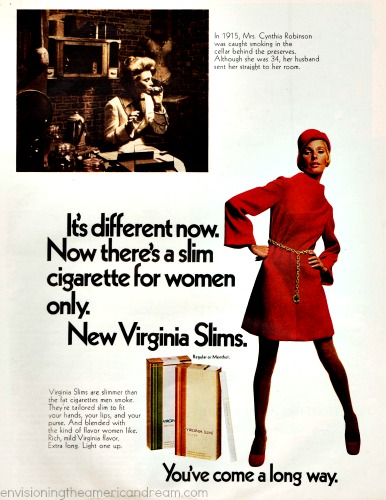 Vintage Virginia Slims Ad 1968