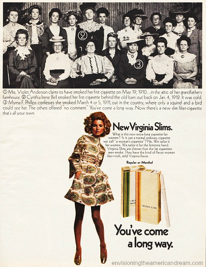 Vintage Virginia Slims Cigarette Ad 1968