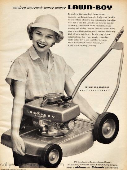 vintage ad suburbs lawn mower lawn boy