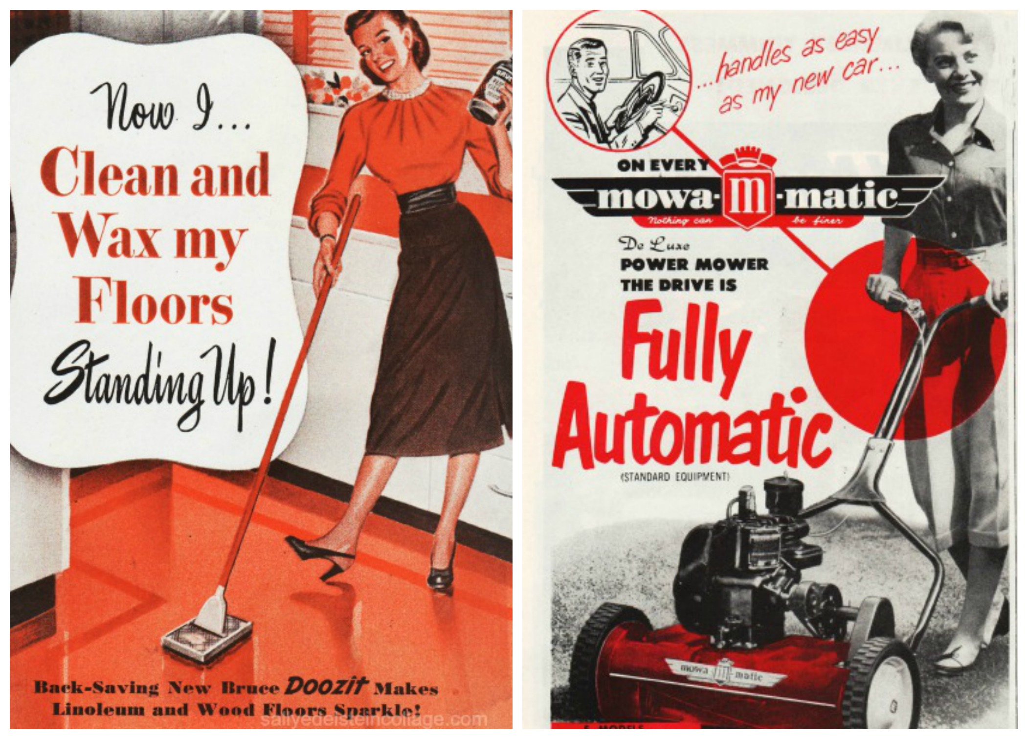 1950s car ads sexist