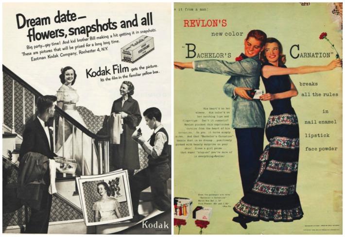 teen prom 1950s kodak ad teens dancing